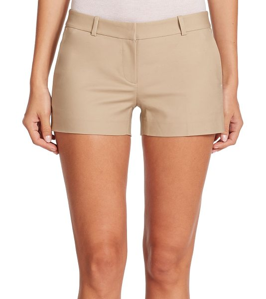 MICHAEL Michael Kors Stretch-cotton mini shorts in khaki - Tailored from stretch cotton with an abbreviated hem,...