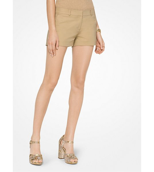 MICHAEL Michael Kors Stretch-Cotton Shorts in natural - Crafted From Stretch-Cotton These Mini Shorts Showcase A...