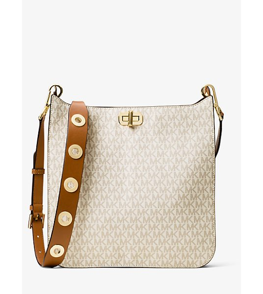 MICHAEL Michael Kors Sullivan Large Logo Messenger in natural - Crafted From Coated Canvas And Designed In Our Modern...