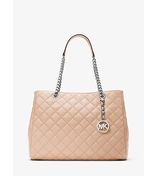 MICHAEL Michael Kors Susannah Large Quilted-Leather Tote in pink - For A Daily Carryall That Transcends The Trends Look To...