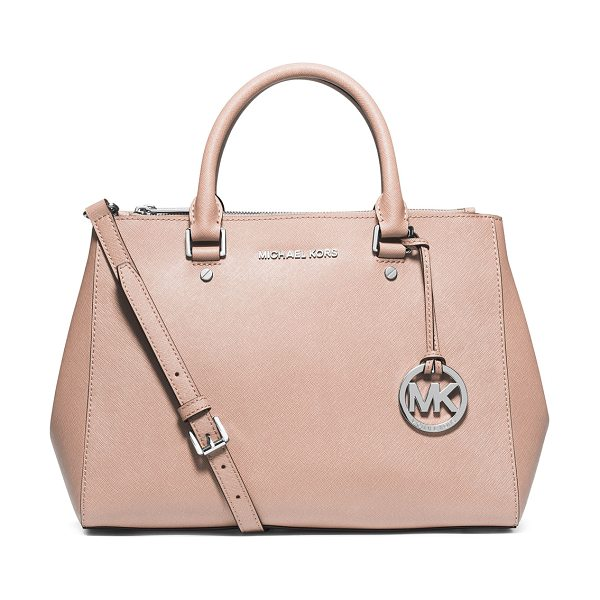 MICHAEL Michael Kors Sutton medium satchel bag in ballet -  MICHAEL Michael Kors saffiano leather satchel bag....
