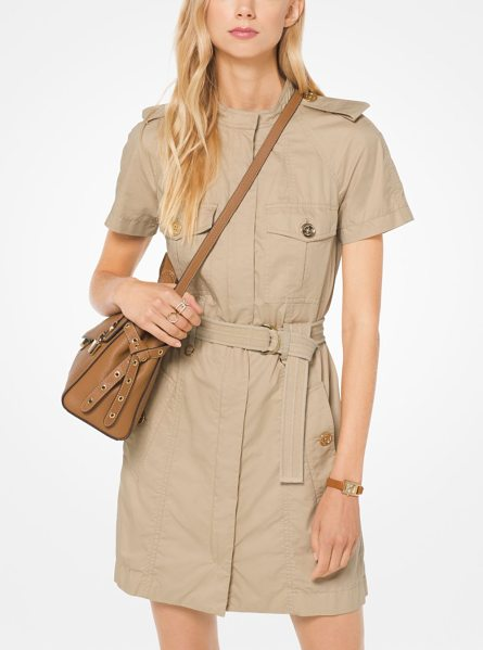 MICHAEL Michael Kors Twill Cargo Dress in natural - Our Cargo Dress Is A Relevant Take On Safari Style....