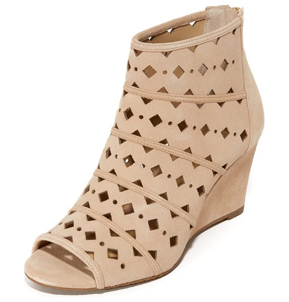 MICHAEL Michael Kors uma wedge booties in bisque