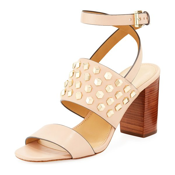 MICHAEL Michael Kors Valencia Studded Leather Sandal in oyster