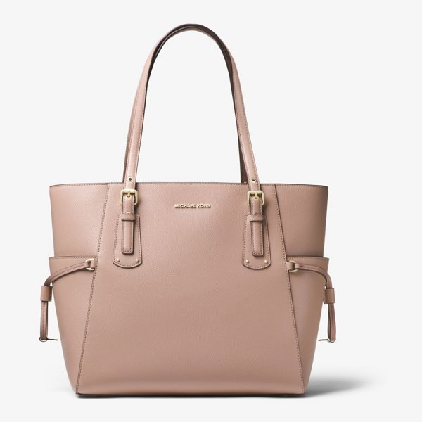 MICHAEL Michael Kors Voyager Crossgrain Leather Tote in natural - Crafted From Textured Crossgrain Leather The Voyager...