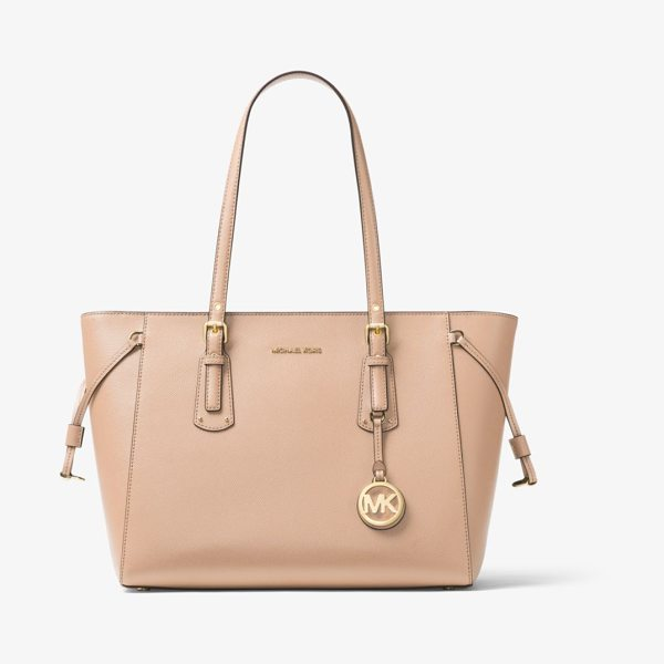 MICHAEL MICHAEL KORS Voyager Medium Leather Tote - Crafted From Textured Crossgrain Leather The Voyager Tote...