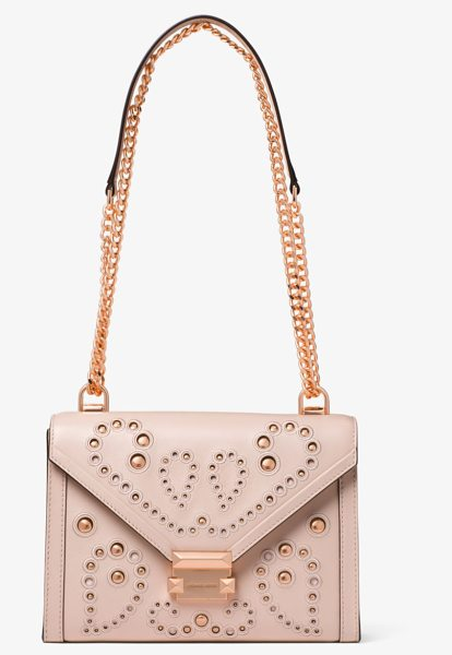 3595e19e864 MICHAEL Michael Kors Whitney Large Embellished Leather Convertible Shoulder  Bag in pink - A Stylish Option