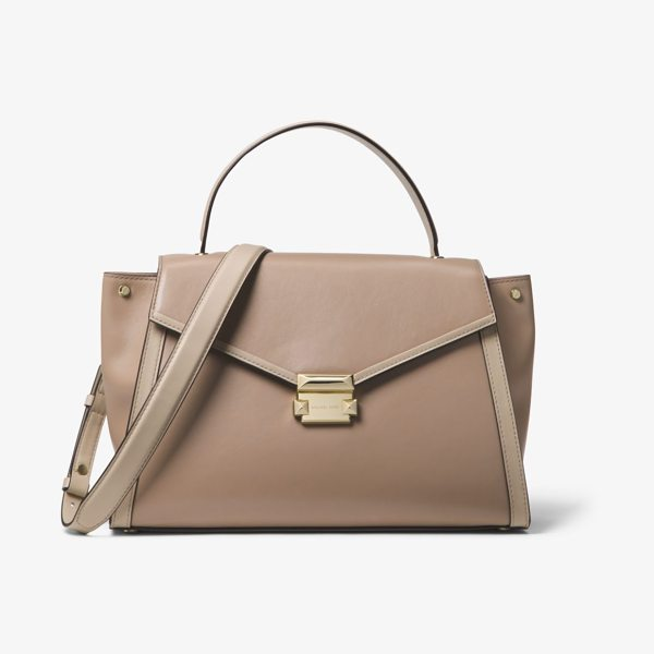 MICHAEL Michael Kors Whitney Large Leather Satchel in brown - The Whitney Satchel Combines Sophistication And...