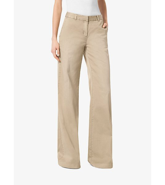 MICHAEL Michael Kors Wide-Leg Chino Trousers in natural - Executed In A Voluminous Wide-Leg Silhouette The Chino...