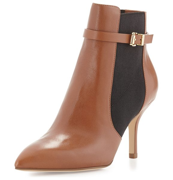 """MICHAEL MICHAEL KORS Woods leather ankle bootie - MICHAEL Michael Kors leather bootie. 3"""" covered heel...."""