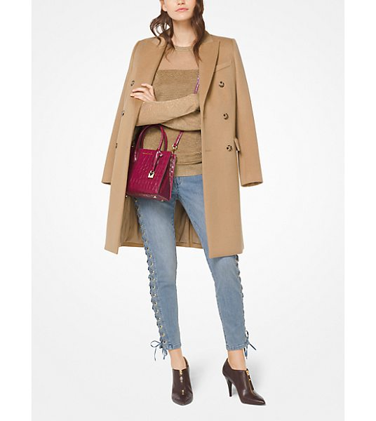 MICHAEL MICHAEL KORS Wool-Blend Officer's Coat - Inspired By Menswear Tailoring This Wool-Blend...