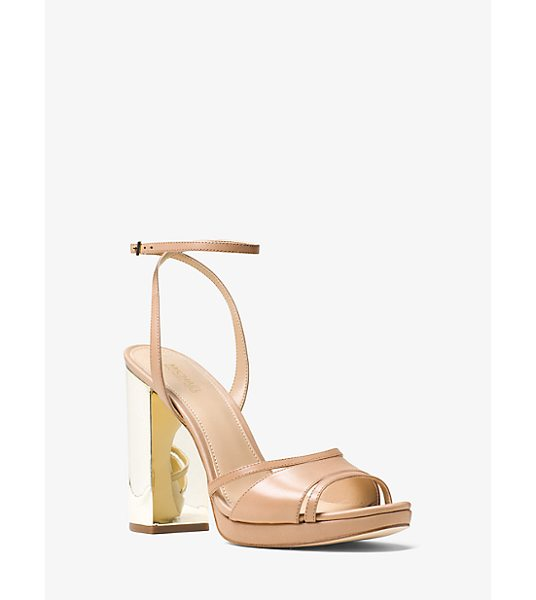 MICHAEL Michael Kors Yoonie Leather Sandal in natural - The Classically Femme Yoonie Sandals Take A Glamorous...