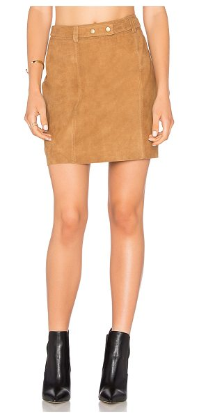Michael Stars A Line Mini Skirt in cognac - Self: 100% leatherLining: Poly blend. Professional...