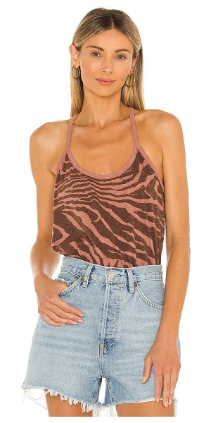 Michael Stars addison y back cami in terra & charcoal