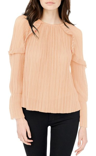 MICHAEL STARS bell sleeve top - Ruffle-trimmed bell sleeves add the perfect dash of...