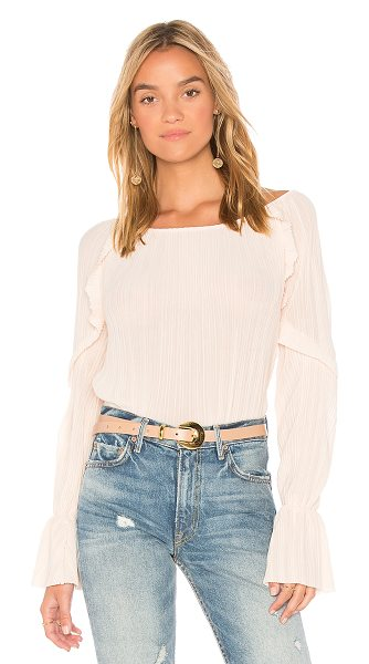 Michael Stars Frill Sleeve Top in blush - Self: 100% polyLining: 96% rayon 4% spandex. Dry clean...