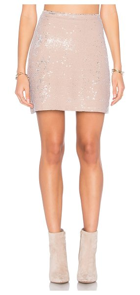 "Michael Stars Sequin Mini Skirt in beige - ""Self: 93% poly 7% spandexLining: 100% modal. Hand wash..."