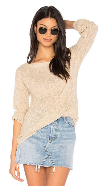 Michael Stars Textured Sweater in beige - 70% acrylic 30% nylon. Hand wash cold. Knit fabric....