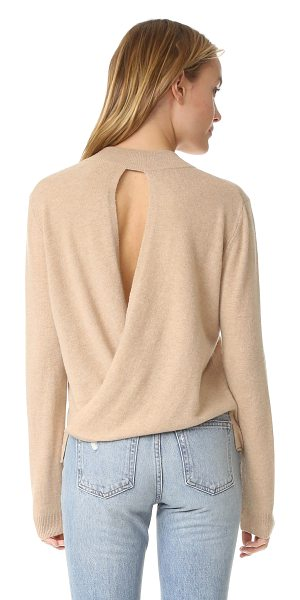Michelle Mason back drape sweater in nude