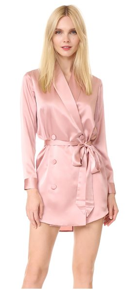 Michelle Mason belted dress jacket in dark blush - Exclusive to Shopbop. A lustrous silk Michelle Mason...