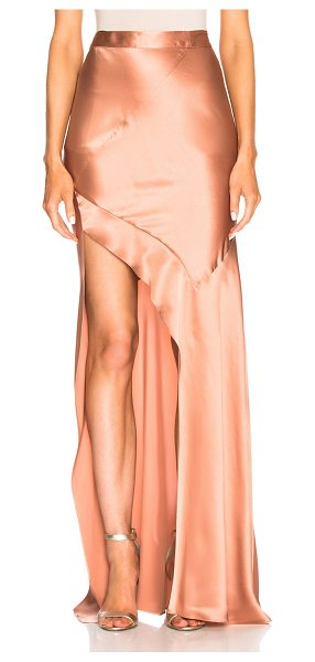 Michelle Mason Bias Skirt in pink - 100% silk.  Made in China.  Dry clean only.  Hidden back...