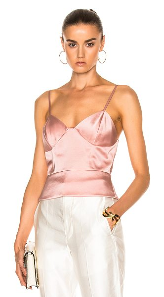 Michelle Mason Bustier Cami in dark blush - Self & Lining: 95% silk 5% lycra. Made in China. Dry...