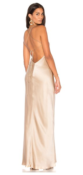 Michelle Mason Cut Out Gown in beige - Self & Lining: 100% silk. Dry clean only. Fully lined....