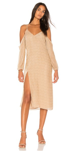 Michelle Mason Drop Shoulder Slip Dress in champagne - Self: 82% rayon 18% silkLining: 100% silk. Dry clean...