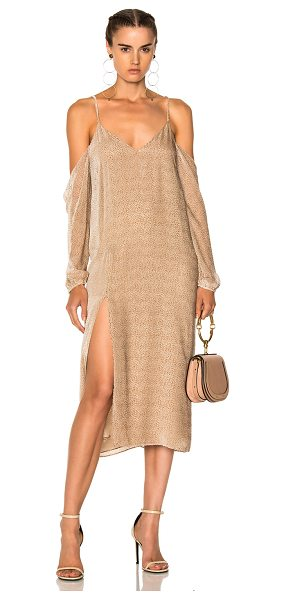 Michelle Mason Drop Shoulder Slip in champagne - Self: 82% rayon 18% silkLining: 100% silk. Made in...
