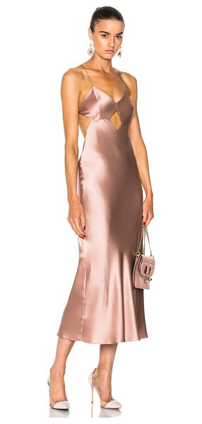 MICHELLE MASON for FWRD Cut Out Midi Dress - Self & Lining: 100% silk.  Made in China.  Dry clean...
