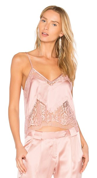 Michelle Mason Lace Cami in dark blush - Self: 95% silk 5% lycraContrast: 60% cotton 40% nylon....