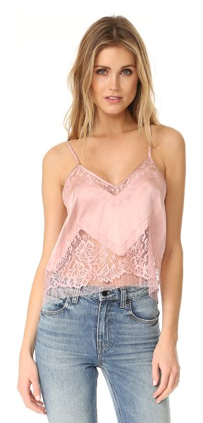 Michelle Mason lace inset cami in blush - This delicate Michelle Mason camisole is made from...