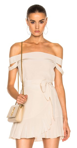 Michelle Mason Off Shoulder Top in bisque - Self & Lining: 100% silk. Made in USA. Dry clean only....