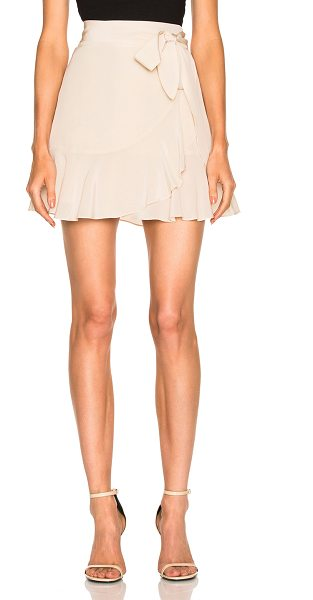 Michelle Mason Ruffle Mini Skirt in bisque - Self & Lining: 100% silk. Made in USA. Dry clean only....