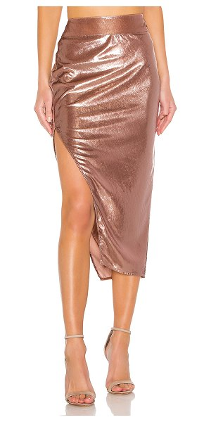 Michelle Mason side slit skirt in mauve