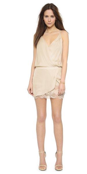 Michelle Mason Wrap mini dress in bone - Exclusive to Shopbop. A Mason by Michelle Mason dress in...