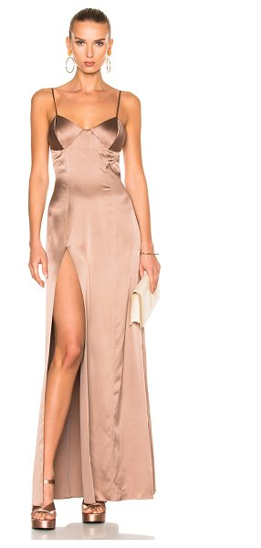 Michelle Mason x FWRD Exclusive Bustier Gown in neutrals,pink - Launched in 2002 as a contemporary diffusion line from...