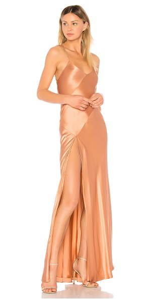 Michelle Mason x REVOLVE Bias Gown in rose - Self & Lining: 100% silk. Dry clean only. Fully lined....