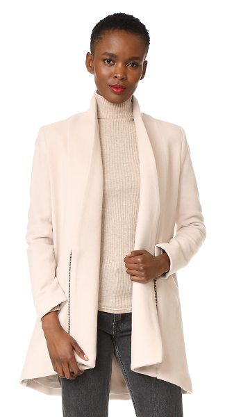 Michelle Mason zipper coat in oyster - A creamy felt Michelle Mason coat with refined,...
