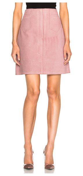 M.i.h Jeans Coda Skirt in pink - 100% cow leather.  Made in Turkey.  Professional leather...