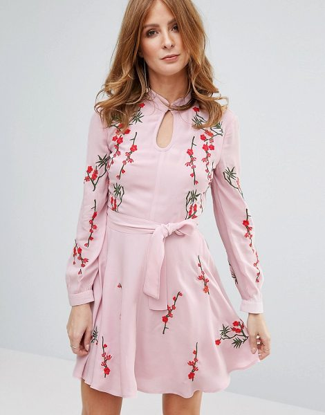 "Millie Mackintosh Pink Embroidred Dress in pink - """"Dress by Millie Mackintosh, Lined woven fabric, High..."