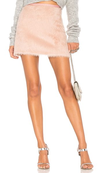 "Milly Alpaca Mini Skirt in pink - ""Self: 70% alpaca 30% virgin woolLining: 96% poly 4%..."