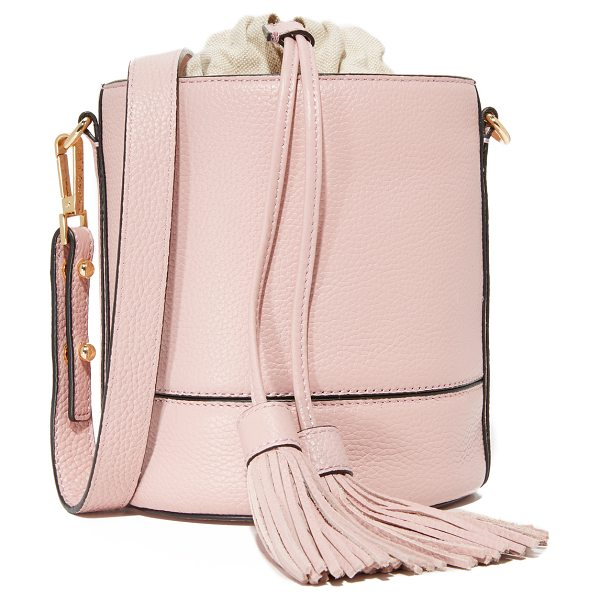MILLY astor drawstring bucket bag - Polished hardware adds a sophisticated feel to this...