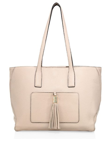 Milly astor large pebble leather tote in nude - Sophisticated pebble leather tote accentuated with...