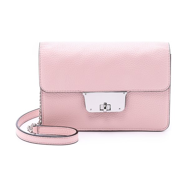 Milly Astor mini cross body bag in blush - A petite fold over Milly bag with a polished turn lock...