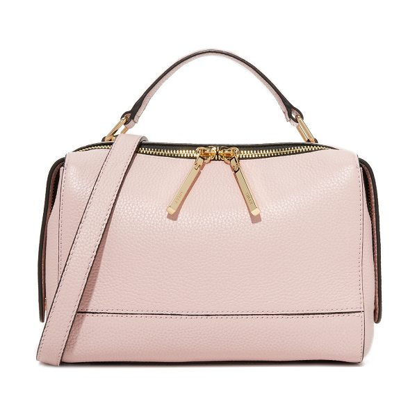 Milly astor satchel in dusty rose - This structured Milly satchel is crafted in rich pebbled...