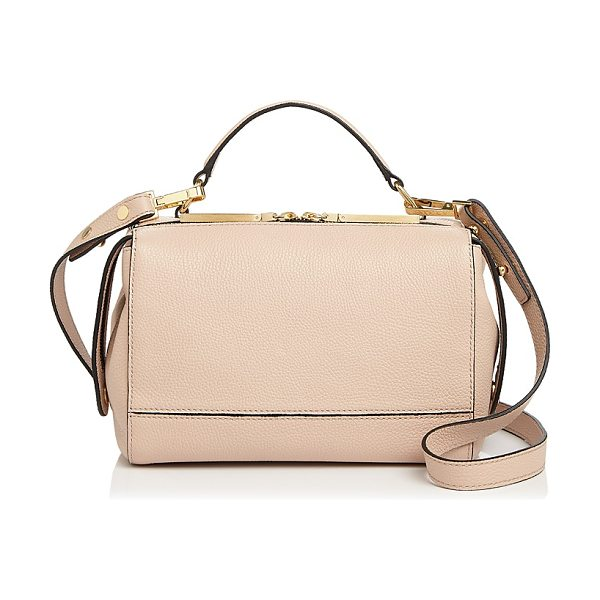 Milly Astor Soft Leather Satchel in nude/gold - Milly Astor Soft Leather Satchel-Handbags