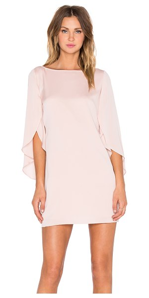 Milly Butterfly Sleeve Dress in blush - Poly blend. Dry clean only. Fully lined. Hidden back...