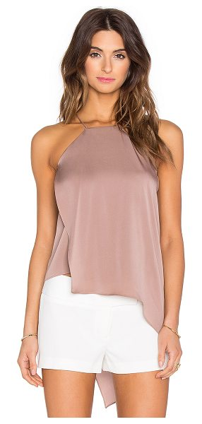 Milly Ciara tank in brown - 92% silk 8% spandex. Dry clean only. Fabric overlay....