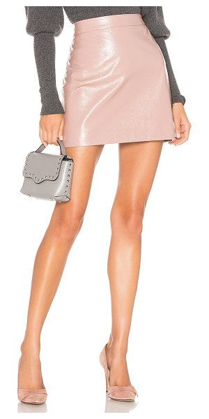 "Milly Crinkle Leather Modern Mini Skirt in blush - ""Genuine leather. Professional leather clean only. Fully..."